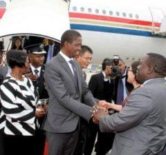 President Edgar Lungu with Foriegn Affairs minister Harry Kalaba