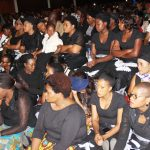 Mourners during Joe Chibangu's funeral at Mulungushi International Conference Center in Lusaka