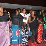 Zambian artist celebrates the life of late Joe Chibangu at Lusaka's Mulungushi Conference Center yesterday