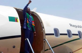 President Lungu at the airport: File picture