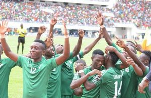 U-20 team celebrates win on Sunday - picture by FAZ