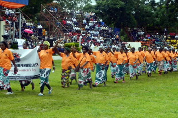 UNIP womens league march during the 2017 International Womens Day celebrations in Lusaka-picture by Tenson Mkhala