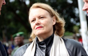 UN resident coordinator Janet Rogan during Youth Day celebrations in Lusaka-picture by Tenson Mkhala