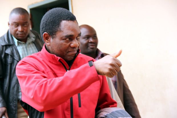 UPND leader Hakainde Hichilema at Lusaka's Magistrates Court as he was being taken to Lusaka Central Prisons-pictures by Tenson Mkhala