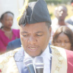 Lusaka mayor Miles Sampa speaks at Civic Centre's Nakatindi grounds during his installation  on August 3, 2018 – Picture by Tenson Mkhala