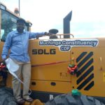 Muchinga MMD member of parliament presents a grader bought from CDF